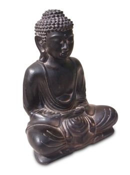 Buddha old wood style coloured / Resin